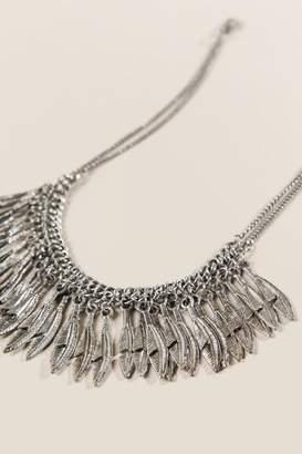 francesca's Benson Feather Necklace - Silver