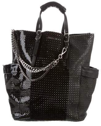 Jimmy Choo Perforated Blare Tote