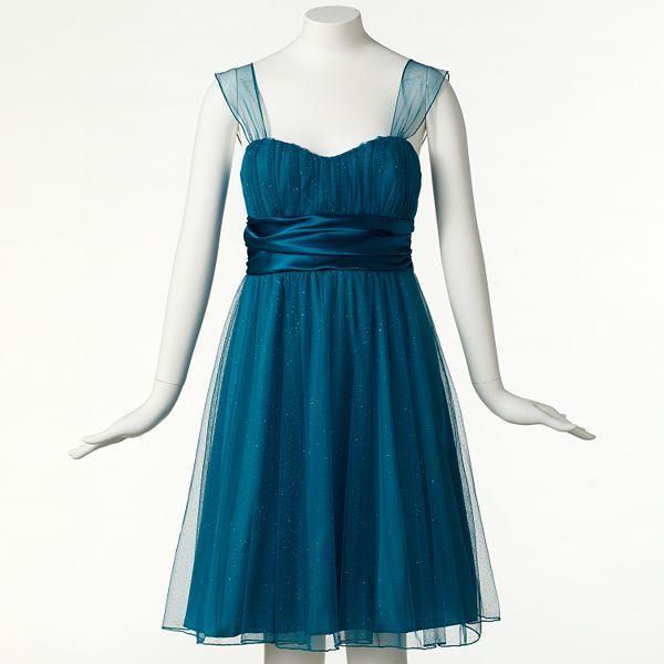 Speechless® Shirred Glitter Dress