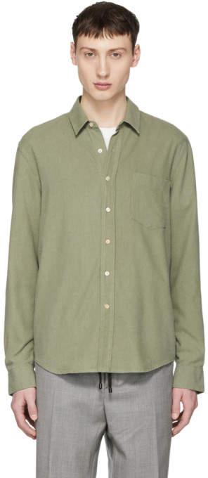 Green Silk Classic Shirt