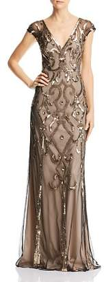 Aidan Mattox Deco Embellished Gown