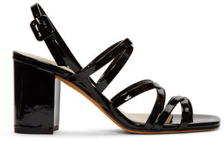 Maryam Nassir Zadeh Black Patent Ira Sandals