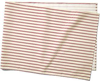 Maison Du Linge Stripe Table Runner - Red/Ecru