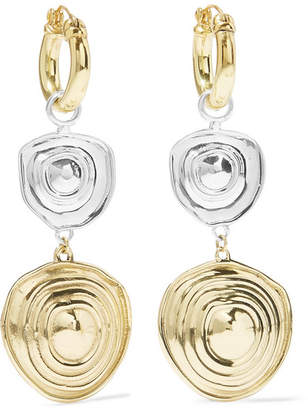Ellery Aegean Gold And Silver-plated Earrings