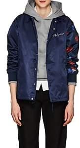 Yohji Yamamoto Regulation Women's Rose-Print Tech-Fabric Jacket - Navy