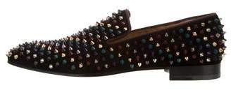 Christian Louboutin Dandelion Spikes Suede Slippers w/ Tags