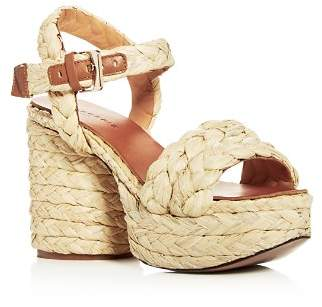 Rob-ert Clergerie Robert Women's Vittoria Raffia High-Heel Platform Sandals