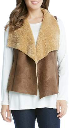 Karen Kane Reversible Faux Shearling Vest