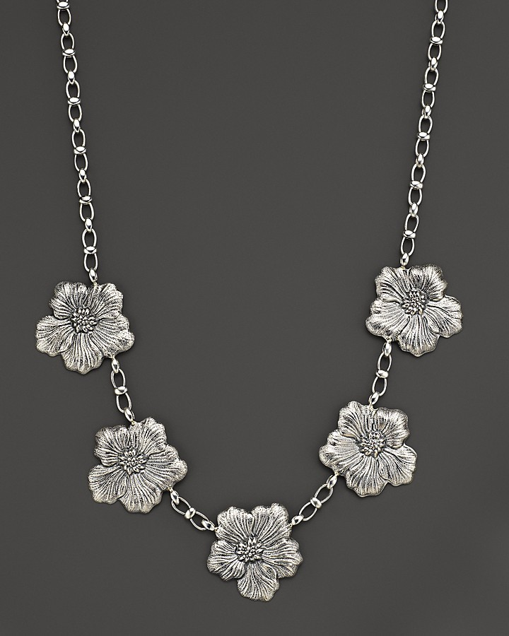 "Buccellati Blossom"" 5 Medium Flower Necklace, 21"""