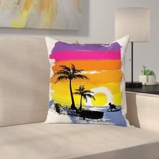 East Urban Home Tropical Beach Square Cushion Pillow Cover East Urban Home
