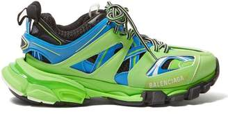 Balenciaga Track Mesh Low Top Trainers - Womens - Green Multi