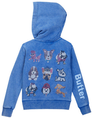 Butter Super Soft Fleece Mineral Wash Zip Hoodie (Little Girls) $75 thestylecure.com
