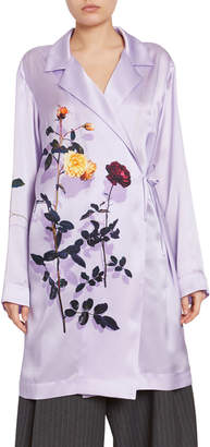 Dries Van Noten Floral Robe Coat