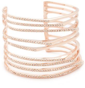 Alexis Bittar Crystal Origami Cuff Bracelet $275 thestylecure.com