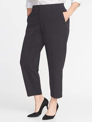 Old Navy Mid-Rise Secret-Slim Pockets + Waistband Plus-Size Pinstriped Harper Pants