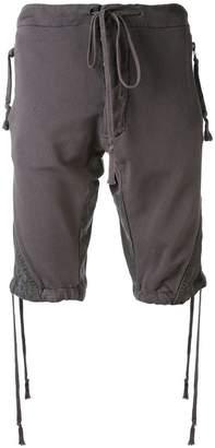 Greg Lauren drawstring shorts