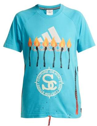 Couture Noki - Customised Street T Shirt - Womens - Blue Multi