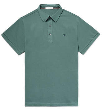 Etro Slim-Fit Cotton-Piqué Polo Shirt
