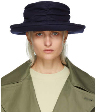 Y's Ys Navy Gather Cloche Hat