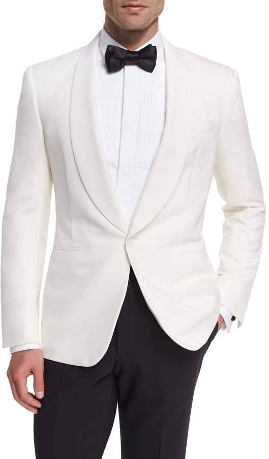 Ralph Lauren Anthony Wool Dinner Jacket, White