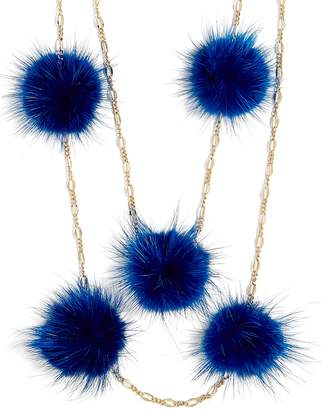 BaubleBar Loulou Pom Pom Necklace