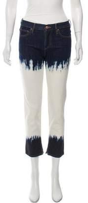 Etoile Isabel Marant Acid Wash Mid-Rise Jeans
