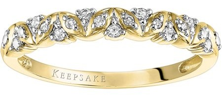 Keepsake Sweet Remembrance 1/10 Carat T.W. Diamond 10kt Yellow Gold Anniversary Band