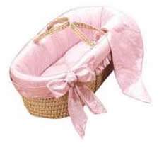 Baby Doll Bedding Primma Donna Moses Basket