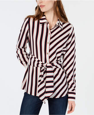 Tommy Hilfiger Striped Tie-Front Shirt