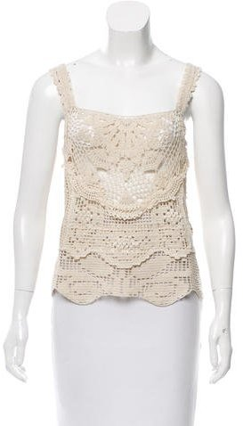 Anna Sui Anna Sui Crocheted Sleeveless Top