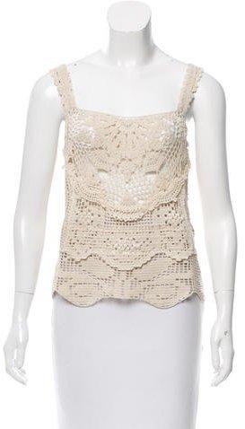 Anna SuiAnna Sui Crocheted Sleeveless Top