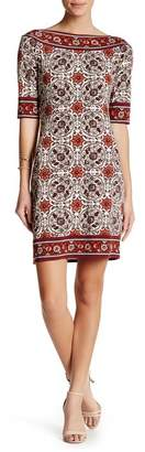 Max Studio Mixed Print Sheath Dress