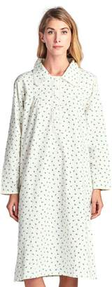 Casual Nights Women's Flannel Floral Long Sleeve Nightgown - 3X-Large