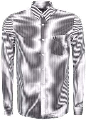 Fred Perry Stripe Twill Shirt Burgundy