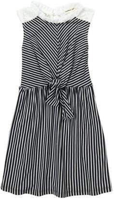 Monteau Girl (Girls 4-6x) Stripe Tie-Front Dress