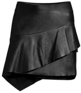 Joie Botan Leather Mini Skirt