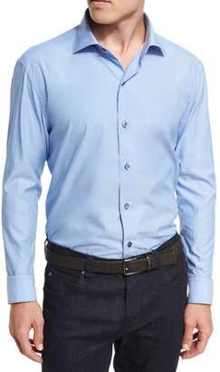 Ermenegildo Zegna Solid Cotton Shirt