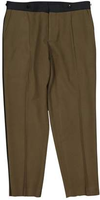 Dries Van Noten Khaki Wool Trousers