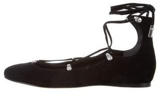 Sigerson Morrison Suede Round-Toe Flats