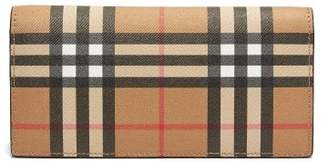 Burberry Cavendish Vintage Check Continental Leather Wallet - Mens - Tan Multi