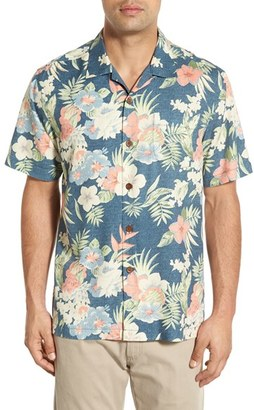 Men's Big & Tall Tommy Bahama 'Ikebana Floral' Silk Camp Shirt $138 thestylecure.com