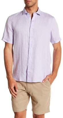 Toscano Short Sleeve Solid Woven Shirt