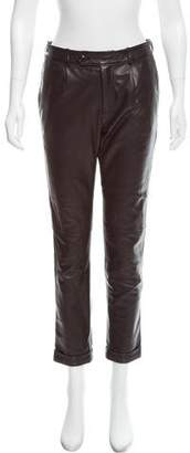 Alexander Wang Leather Mid-Rise Pants