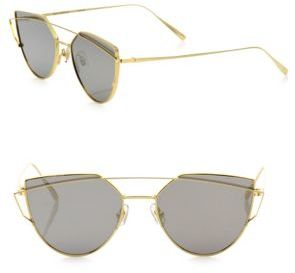 Gentle Monster Love Punch 55MM Mirrored Cat Eye Sunglasses $290 thestylecure.com