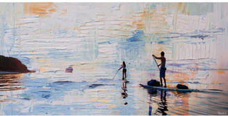 Parvez Taj Dusk Paddling Canvas Wall Art