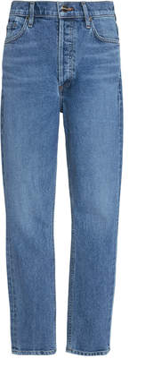 Gold Sign High-Rise Slim-Leg Jeans