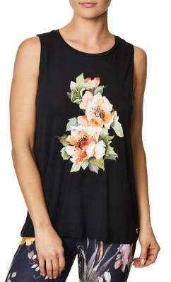 Betsey Johnson Stay Wild Floral Muscle Tank Top