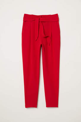 H&M Ankle-length Pants - Red - Women