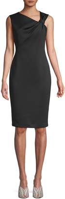 Calvin Klein Asymmetrical Knot Sheath Dress