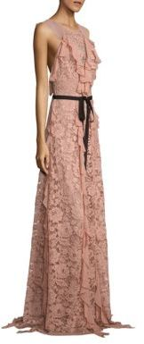 Sachin & Babi Melody Ruffled Lace Gown $895 thestylecure.com